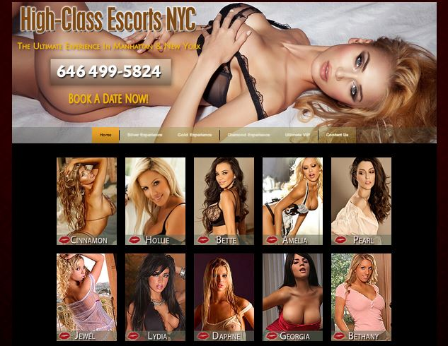 High class escorts can be found in New York City.