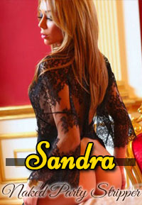 No one can strip in Vegas like Sandra can.